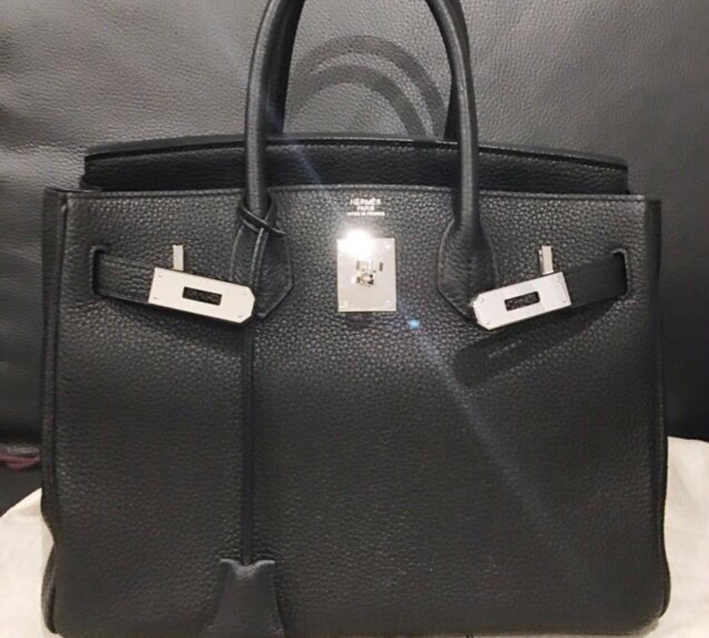 f15bc28253 ... reduced hermes bagin hounslow london hermes bag black silver hardware  in good condition hermes bag 32233