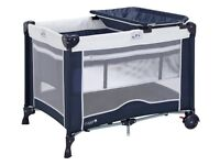 Navy Cuggl travel cot