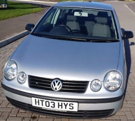 Well cared for 2003 1.4L petrol VW Polo, full service history, MOT due Aug 2018