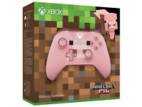 Xbox One Minecraft Pig Controller - Pink - Brand New