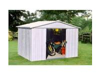 metal garden shed 10x8 ft