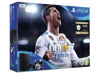 Sony PlayStation 4 Slim Black 500 GB + Guarantee + FIFA 18 + Gran Turismo Sport Steelbook Edition