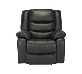 Collection New Paolo Manual Recliner Chair - Black