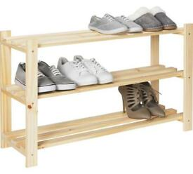 3 shelf shoe storage rack