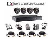 HD-TVI 1080p COMPLETE KIT - 4 x HQ TECHNOLOGY CAMERAS AND HIKVISION DVR