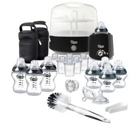 BRAND NEW SEALED Tommee Tippee Black Complete Feeding Set - BLACK