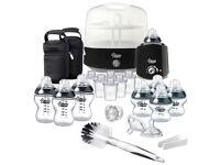 BRAND NEW SEALED Tommee Tippee Black Complete Feeding Set - BLACK