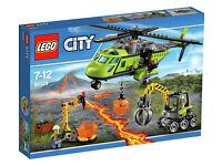 Lego City Volcano Supply Helicopter, 60123, BNIB