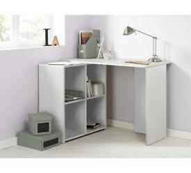Home Calgary Corner Office Desk - White