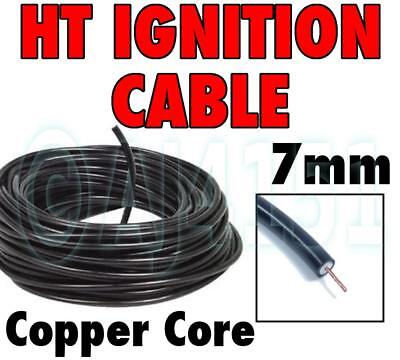 HT Ignition Lead (Spark Plug) Cable Copper Core Twin Insulated Black PVC Coated