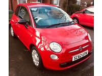 Red fiat 500 63 plate low mileage