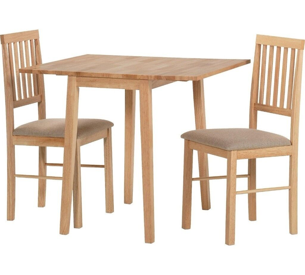 Captivating Kendall Drop Leaf Solid Wood Extendable Dining Table And 2 Chairs