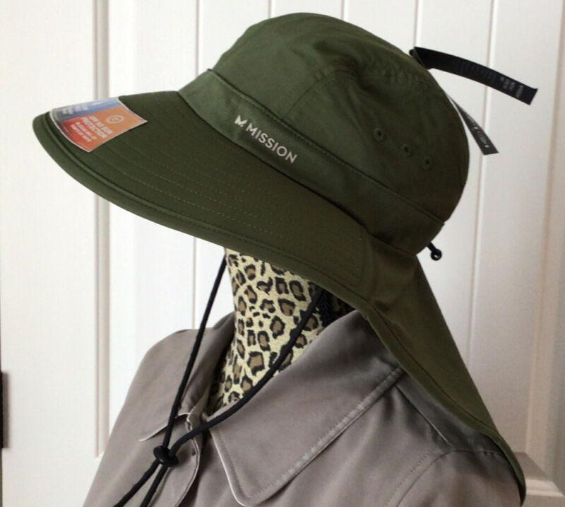 "MISSION Cooling Fishermen/Hiking Hat- UPF 50, 3 7/8"" Wide Brim Cools When Wet-"