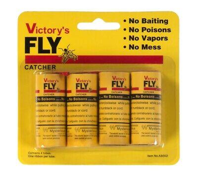 4er-Pack Atrapamoscas Mosca Trampas para Insectos Rollo de Pegamento Flycatcher