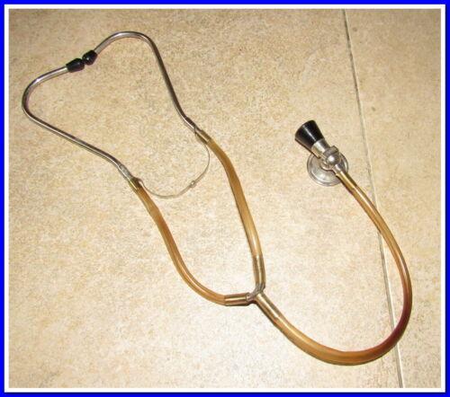 Vintage Stethoscope Old Medical Device Doctor~metal,Tubes,bakelite #19721