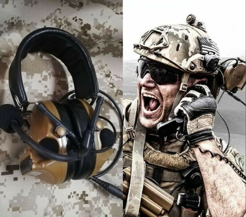 TCA COMTAC III C3 Single Com Noise Reduction Tactical Headset (TAN)Coyote Brown