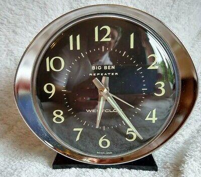 Vintage 1970s Westclox Big Ben Repeater Classic Alarm Clock
