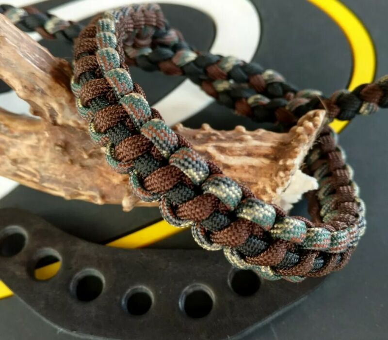 Elevated Camo Black And Walnut bling sling bow wrist strap FREE SHIP