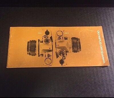 Rare Vintage Olympus OM System - OM-1, OM-2 35mm Film Cameras - Brochure