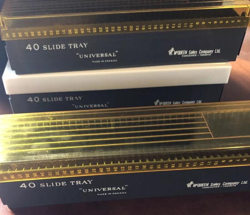 McQueen Sales Co. Ltd Universal 40 slide tray storage for slides vintage film