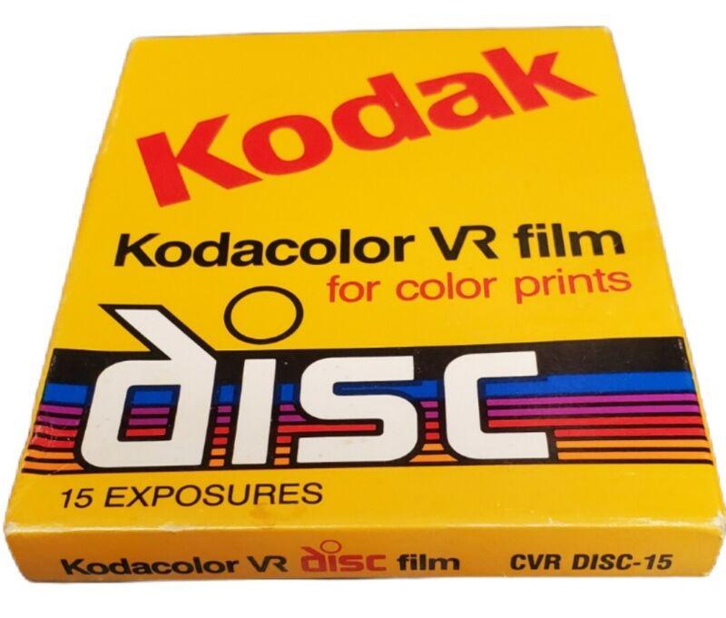Kodak Disc Film Kodacolor Gold VR 15 exp  Sealed Film Disk Vtg Exp 10/98