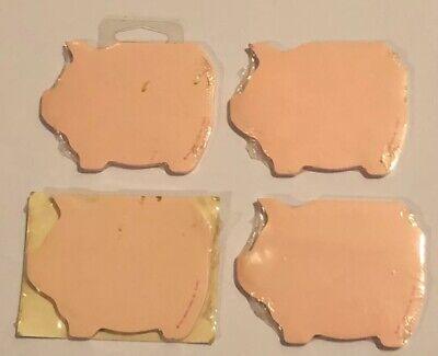 Vintage Post-it Note Lot Pink Pig Shape Sticky Memo Notes
