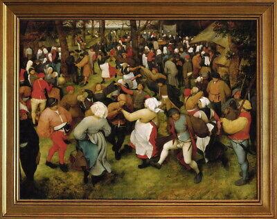Classic Framed Pieter Bruegel the Elder The Wedding Dance Giclee Canvas (The Wedding Dance Pieter Bruegel The Elder)