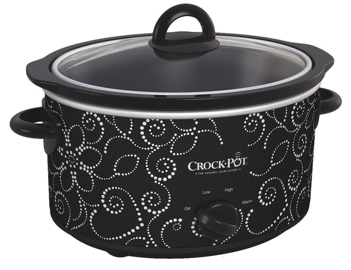 Crock-Pot Slow Cooker - 4 Quart - Black/White - Manual Contr