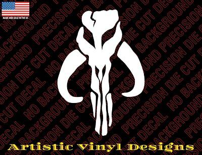 Star Wars inspired  Mandalorian Boba Fett decal sticker, different colors/sizes](Star Wars Decals)