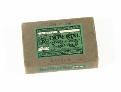 "Sealed pack of 1 dozen 2¼x3¼"" Imperial Special Sensitive Glass Dry Plates  for sale  Shipping to India"