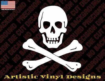 Skull and cross bones pirate decal sticker for wall, car, laptop, etc - Skull And Crossbones Stickers