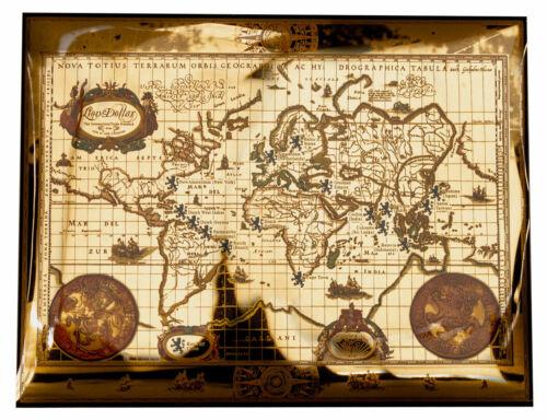 Lion Dollar Gold Foil Old World Map SKU59670