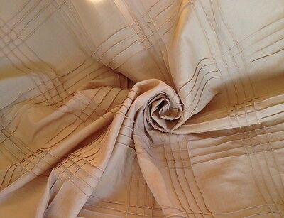 40 meters  Faux Silk Taffeta  Curtain Fabric  Trellis Design  Laura Ashley Gold Silk Designer Drapery Faux Fabric