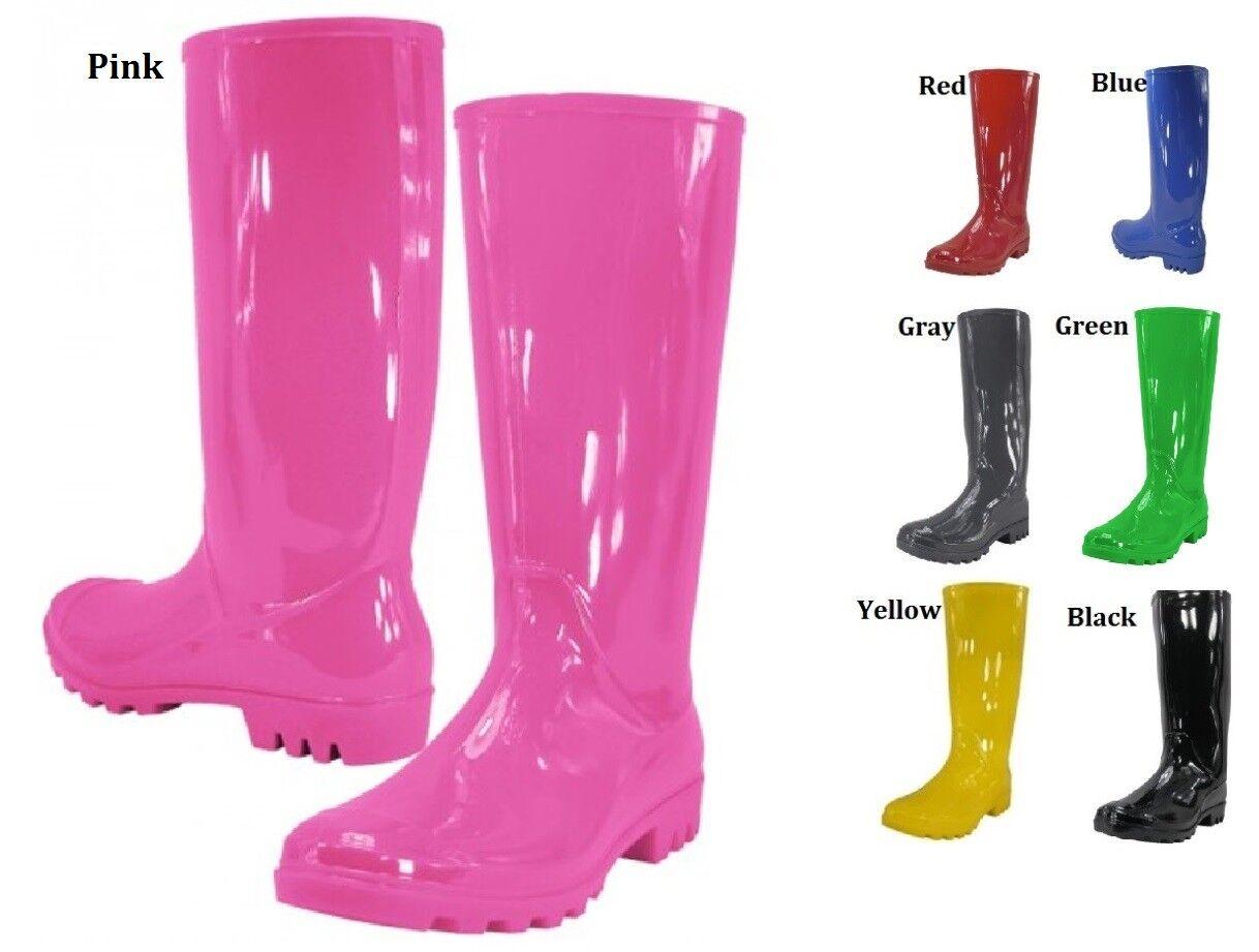 women rubber rain boots black blue gray