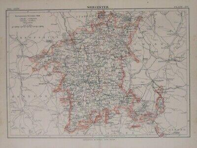 OLD ORDNANCE SURVEY MAP WORCESTER SW 1902 ST JOHNS THE BUTT BOUGHTON PARK