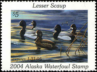 ALASKA 20 2004 STATE DUCK LESSER SCAUP  BY CYNTHIE FISHER