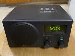 Boston Acoustics RECEPTER AM/FM Radio DUAL Alarm Clock Charcoal