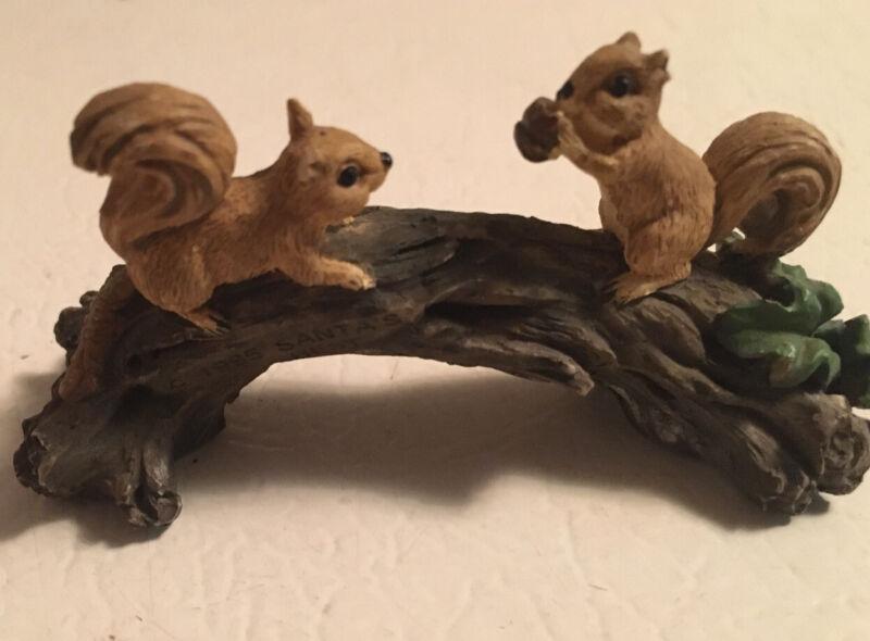 2 Vintage Small Squirrel Figurines