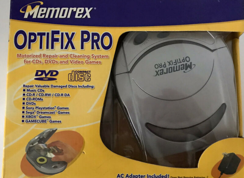 Memorex OptiFix Pro Cleans CD's, DVD's and Video Games