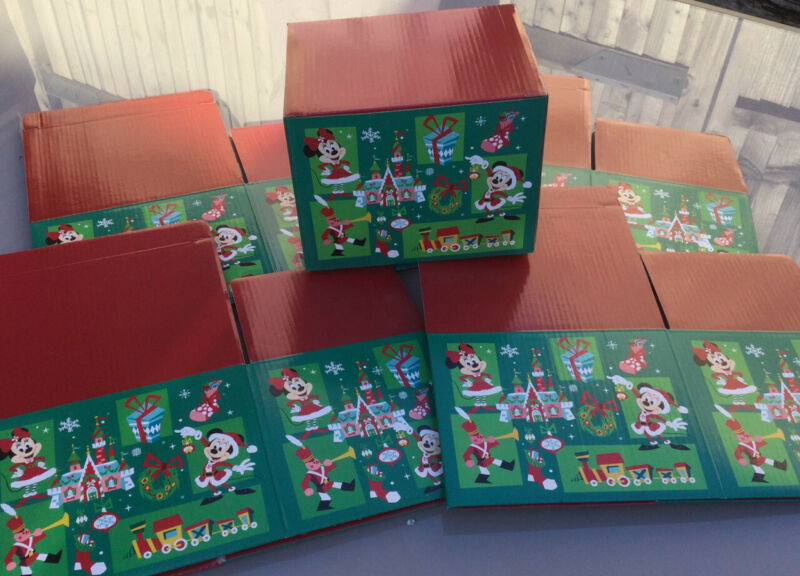 5 X ORIGINAL DISNEY STORE CHRISTMAS GIFT BOXES MUG BOX SIZE MICKEY MINNIE