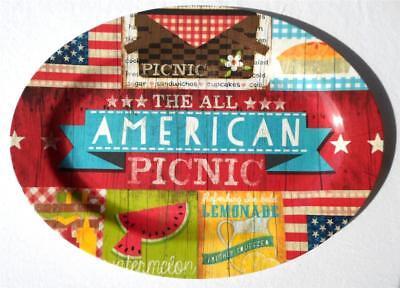 American Picnic Melamine Serving Platter 22 x 15 Tray Lemonade USA