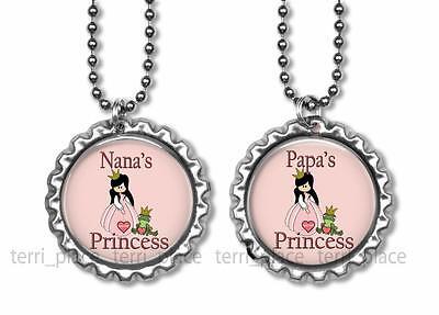 One Nana's or Papa's Princess Little Girl Bottle Cap Jewelry