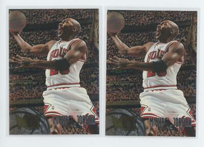 1995 Skybox Metal Universe #13 Michael Jordan Chicago Bulls Lot of 2
