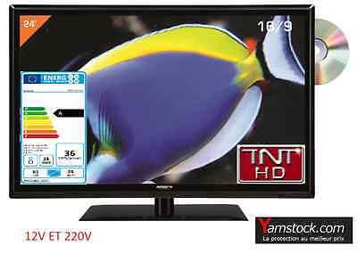Combiné Télévision + DVD LED 24