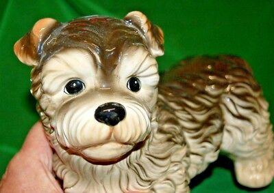STUNNING & CUTE VINTAGE OTAGIRI DOG CAIRN TERRIER ? FIGURINE HAND CRAFTED JAPAN