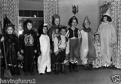 1950 Halloween Children Dressed up to go Trick or Treating 8 x 10 Photograph