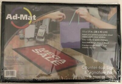 Ad-mat Countertop Signsignature Pad W Built-in Microbanstandard Size 11hx17w