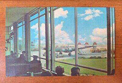 Indianapolis Indiana 1960s Postcard Weir Cook Municipal Airport Terminal Planes Municipal Airport Terminal