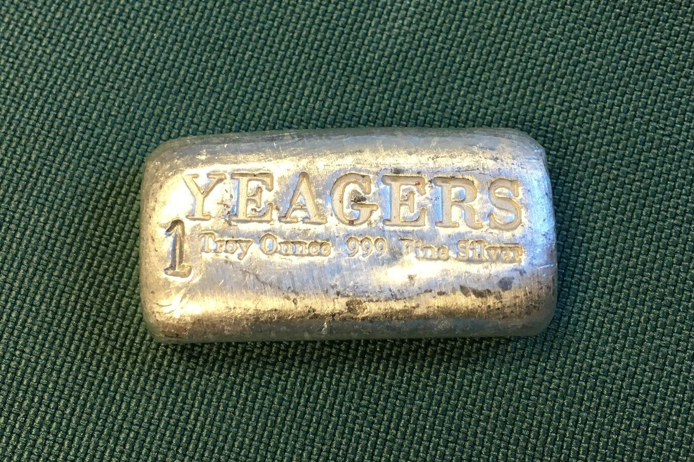 1 oz Hand Poured 999 Silver Bullion Bar by YPS (Bare Bones)