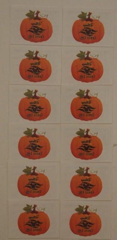 12 Disney Cruise Line Halloween Pumpkin Tattoos Tattoo Temp Ship Boat Party Gift